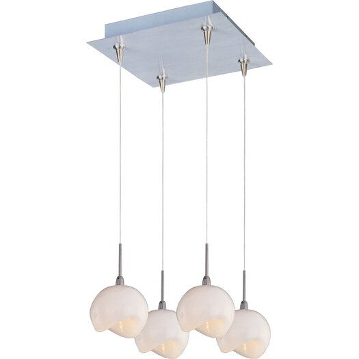 ET2 Opal White 4-Light RapidJack Pendant and Canopy