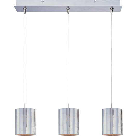 ET2 Silver Plate 3-Light RapidJack Pendant and Canopy