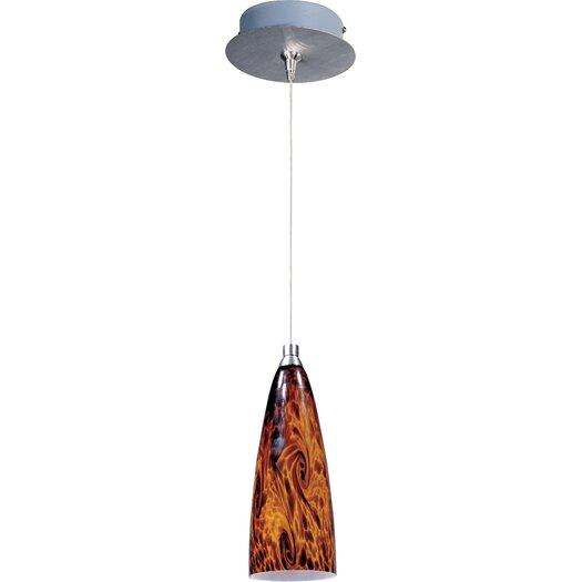 ET2 Amber Lava 1-Light RapidJack Pendant and Canopy