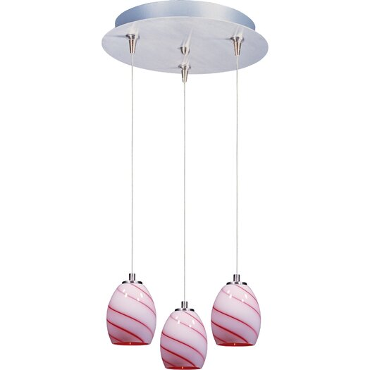 ET2 Swirl 3-Light RapidJack Pendant and Canopy