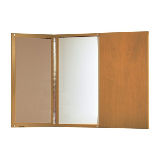 Mayline Group Corsica Series Presentation Magnetic Enclosed 4' H x 4' W Whiteboard