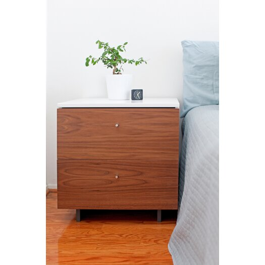Spot on Square Roh 2 Drawer Nightstand