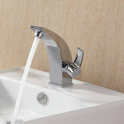 Kraus Bathroom Combos Single Hole Waterfall Illusio Faucet with Single Handle