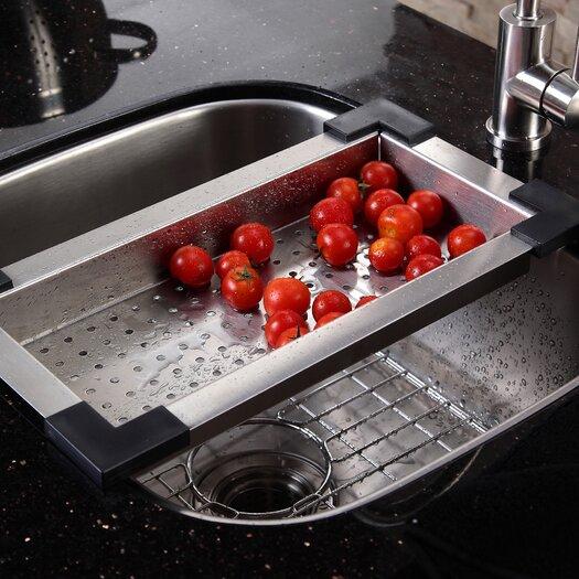 """Kraus 23.25"""" x 20.88"""" Undermount Single Bowl Kitchen Sink"""