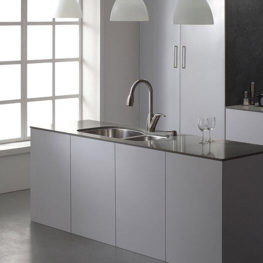 """Kraus 32"""" x 20.5 Undermount Double Bowl 60/40 Kitchen Sink"""
