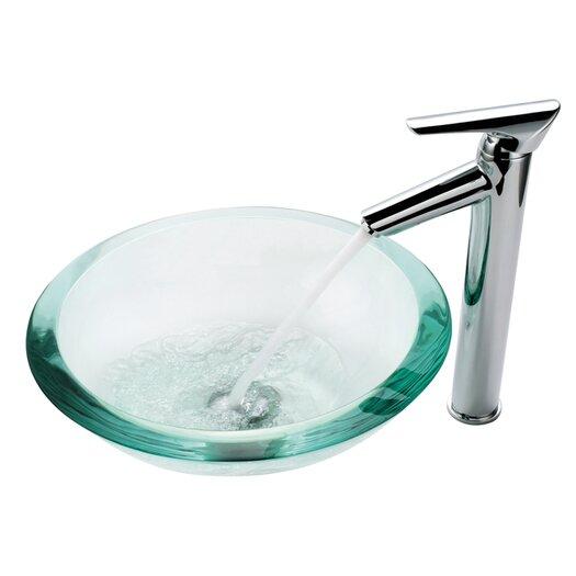 Kraus Clear 34mm Edge Glass Vessel Sink