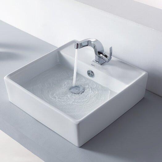 Kraus Bathroom Combos Single Hole Typhon Faucet and Bathroom Sink