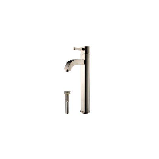 Kraus Ceramic Square Bathroom Sink with Ramus Single Lever Faucet