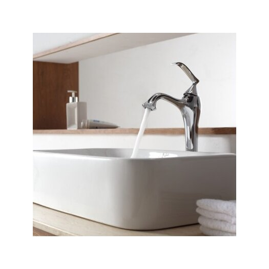 Kraus Bathroom Combos Bathroom Sink with Single Handle Single Hole Ventus Faucet