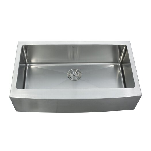 """Kraus 35.875"""" x 20.75"""" Farmhouse Kitchen Sink with Faucet and Soap Dispenser"""