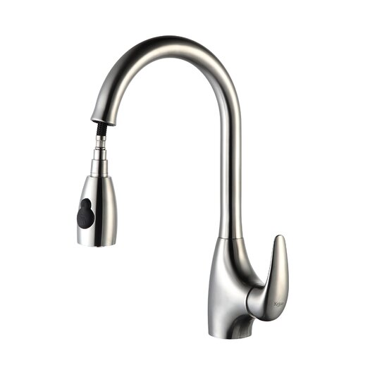 Kraus Kitchen Faucet with Soap Dispenser & Pull-Out Spray