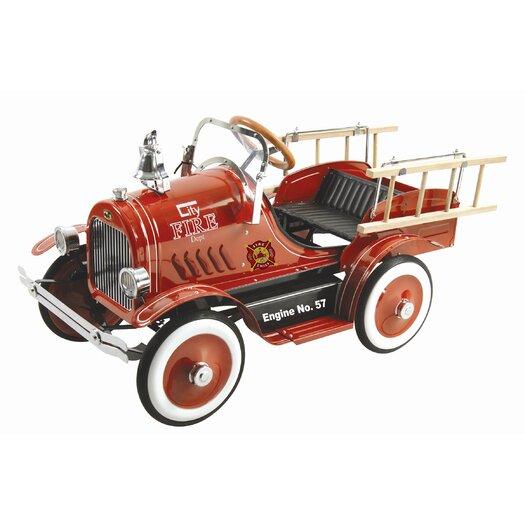 Dexton Kids Deluxe Fire Truck Pedal Car
