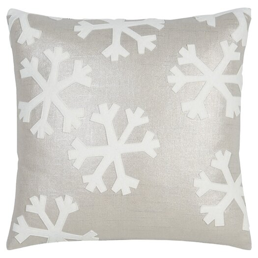 Eastern Accents Tinsel Town Falling Snow Throw Pillow