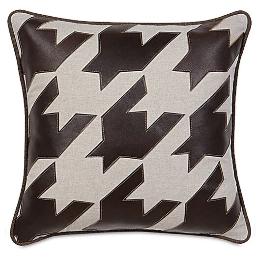 Eastern Accents MacCallum Hoffman Houndstooth Applique Throw Pillow