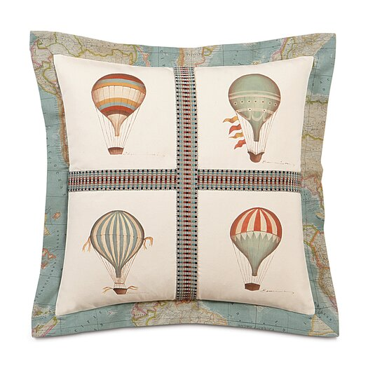 Eastern Accents Kai Hand Painted Baloons Flange Throw Pillow