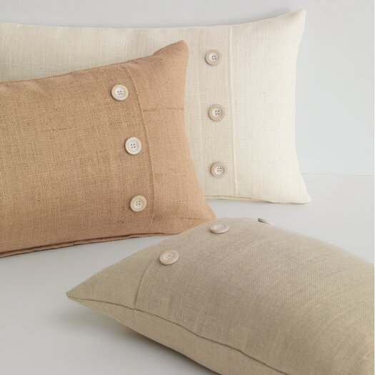 Eastern Accents Rustique Burlap Knife Edge Lumbar Pillow