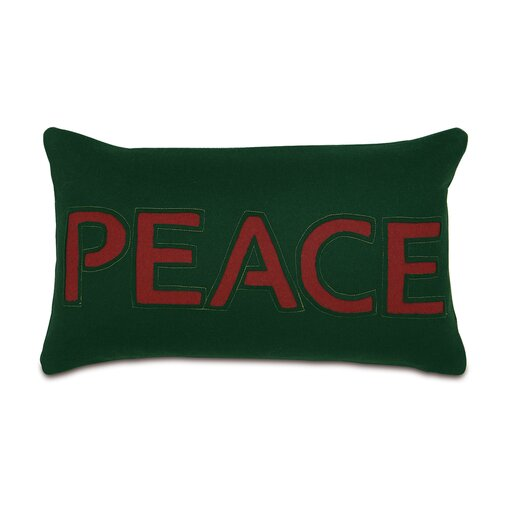 Eastern Accents Home for The Holidays Peace Lumbar Pillow