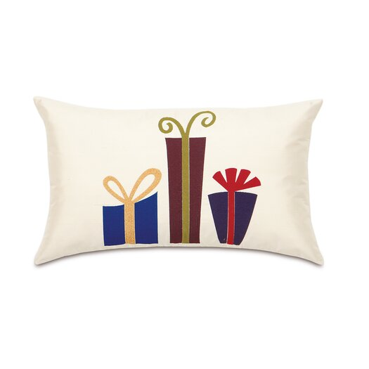 Eastern Accents Candy Cane Mod Presents Lumbar Pillow