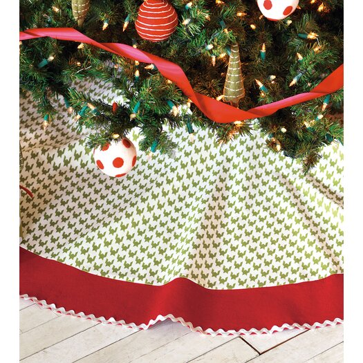 Eastern Accents North Pole Bright Tree Skirt in Green & Red