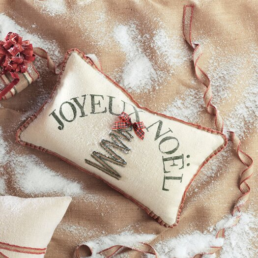 Eastern Accents Joyeux Noel Lumbar Pillow