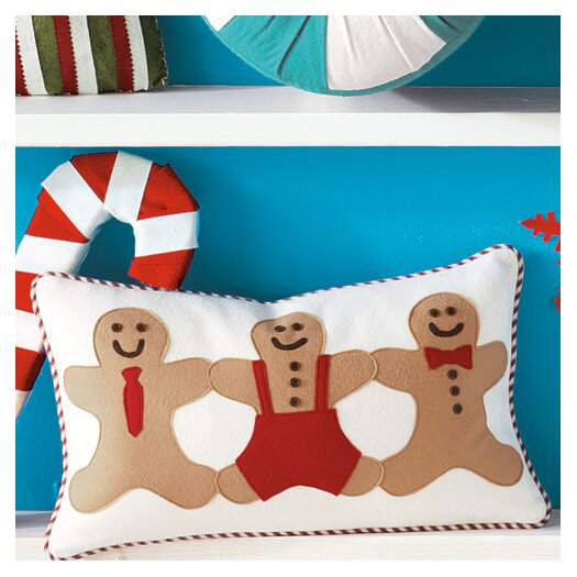 Eastern Accents North Pole Gingerbread Men Lumbar Pillow