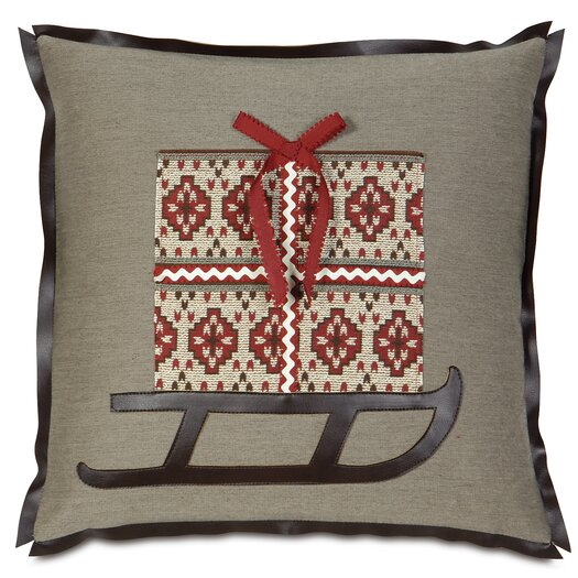 Eastern Accents Nordic Holiday Santa's Sleigh Throw Pillow