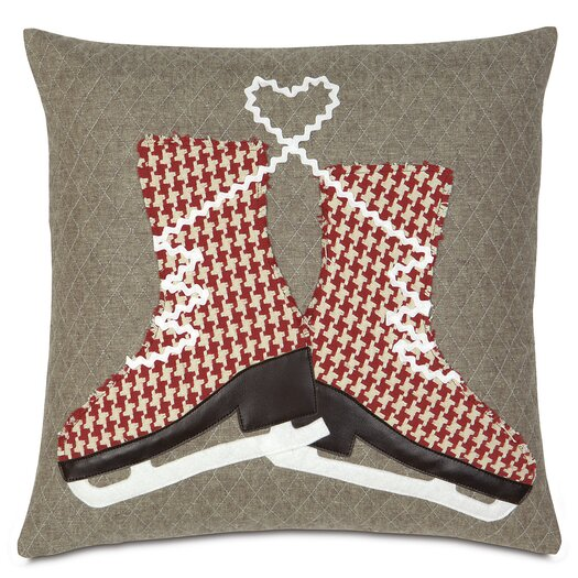 Eastern Accents Nordic Holiday Glass Skaters Throw Pillow