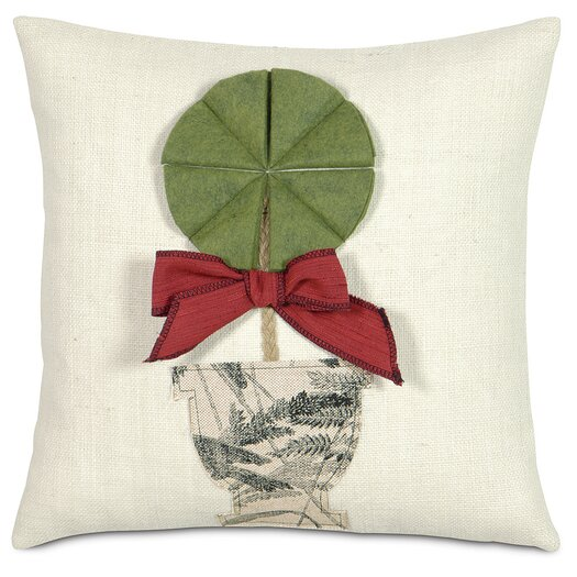 Eastern Accents Fa La La Holiday Topiary Throw Pillow