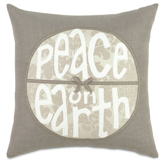 Eastern Accents Dreaming of a White Christmas Peace on Earth Throw Pillow