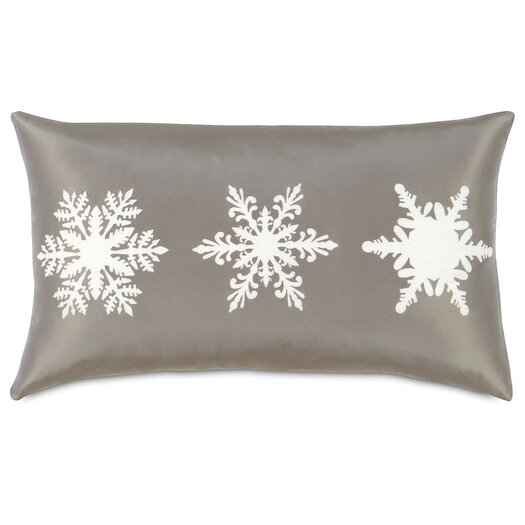 Eastern Accents Dreaming of a White Christmas Frosted Flakes Lumbar Pillow
