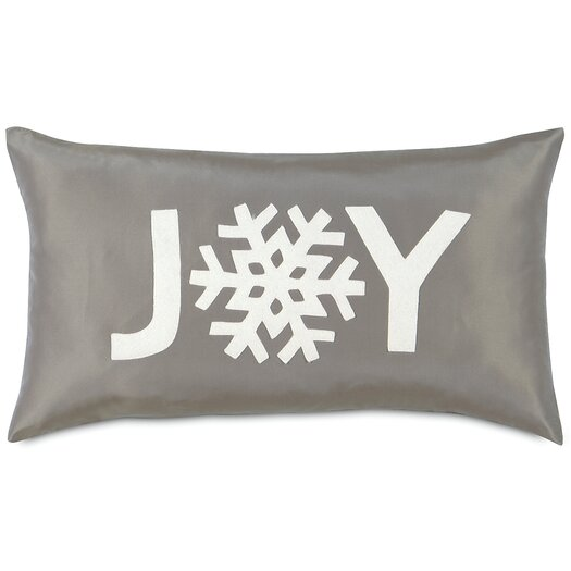 Eastern Accents Dreaming of a White Christmas Snowflake Joy Lumbar Pillow