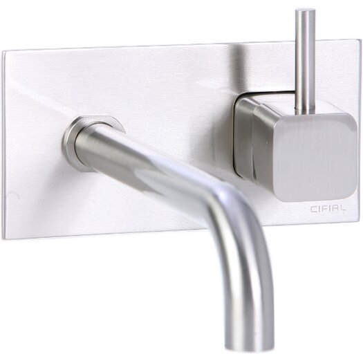 Cifial Quadra Wall Mounted Bathroom Sink Faucet with Single Handle