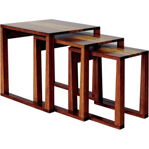 Greenington Magnolia 3 Piece Bamboo Nesting Tables