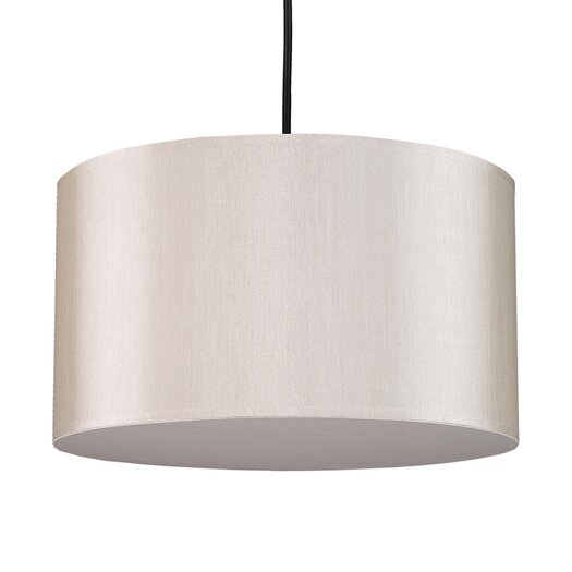 Lights Up! Meridian 1 Light Medium Drum Pendant