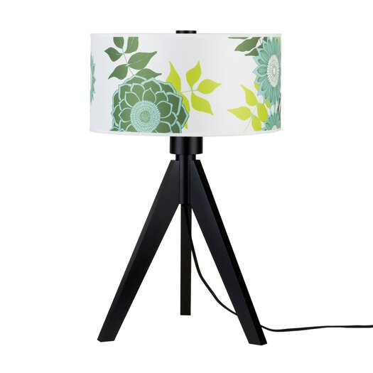 """Lights Up! Woody 28"""" H Table Lamp with Drum Shade"""