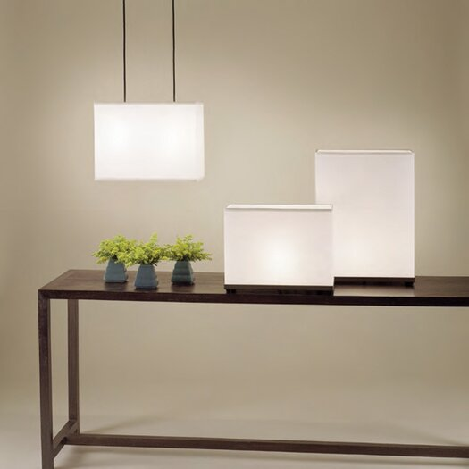 """Lights Up! Rex Tall 20"""" H Table Lamp with Rectangular Shade"""