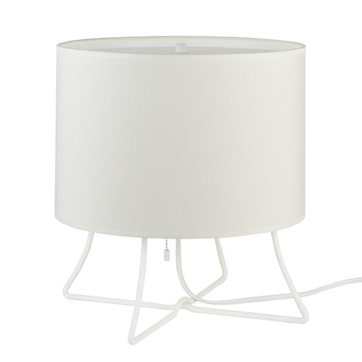 "Lights Up! Virgil Low 13"" H Table Lamp with Drum Shade"