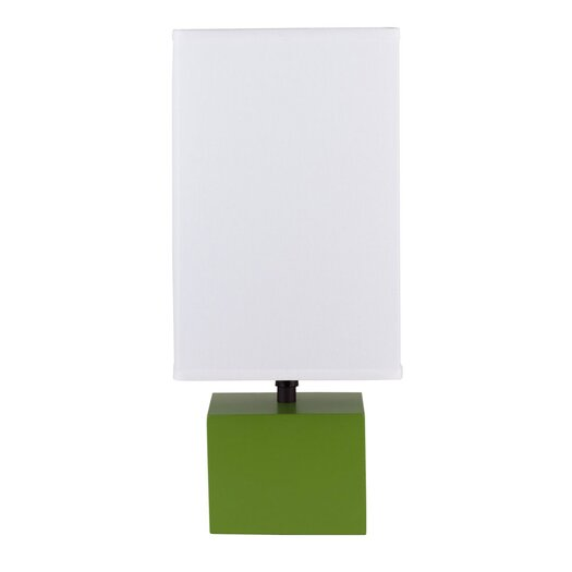 """Lights Up! Devo 18"""" H Table Lamp with Rectangular Shade"""
