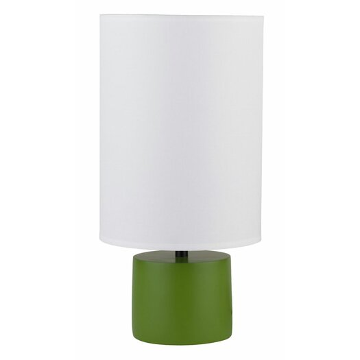 "Lights Up! Devo 18"" H Table Lamp with Drum Shade"
