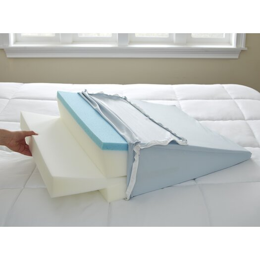 Broyhill 174 Gel Memory Foam Adjustable Sleep Wedge Pillow