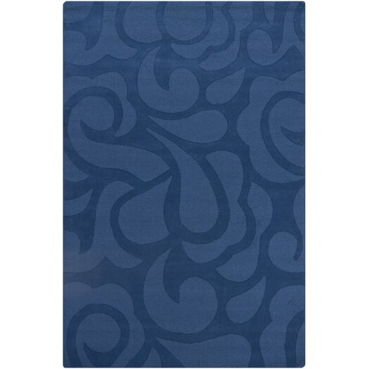 Chandra Rugs Ast Blue Floral Area Rug