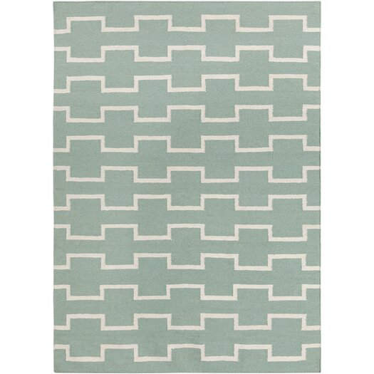 Chandra Rugs Lima Mint Abstract Area Rug