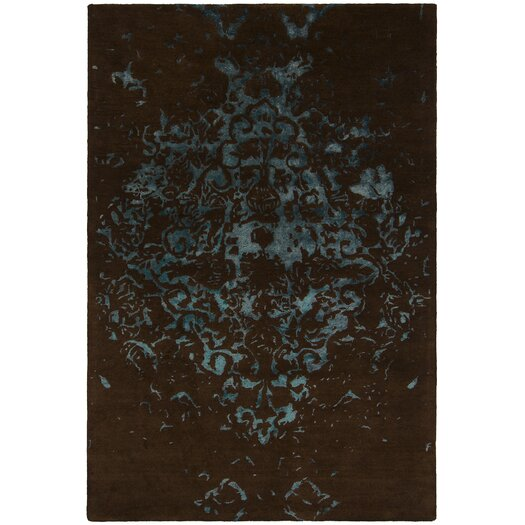 Chandra Rugs Veleno Brown and Blue Area Rug