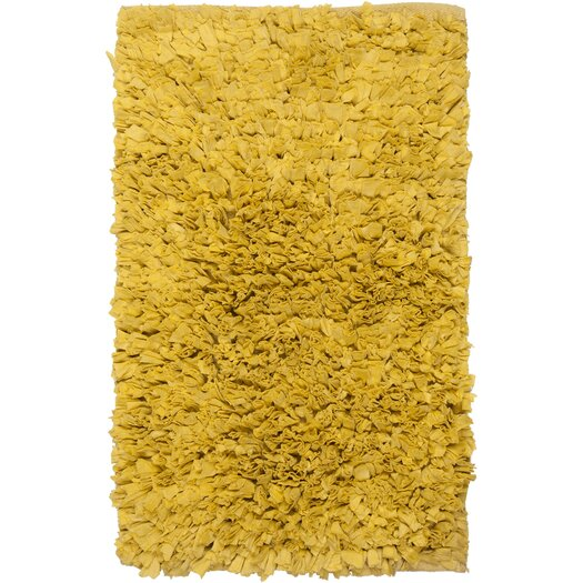 Chandra Rugs Paper Shag Yellow Area Rug