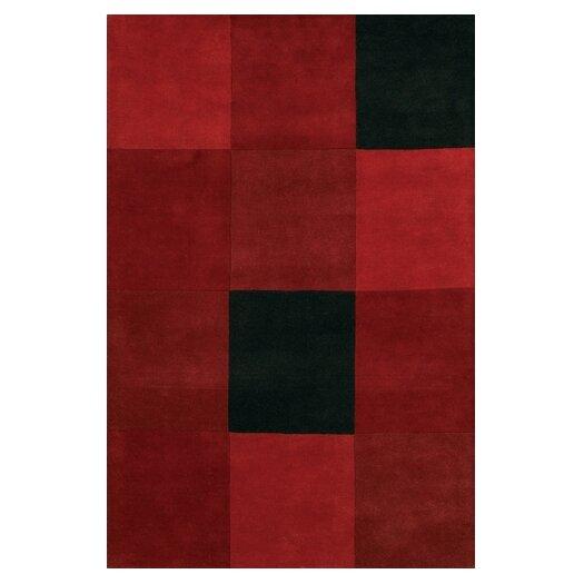 Chandra Rugs Antara Red/Black Area Rug