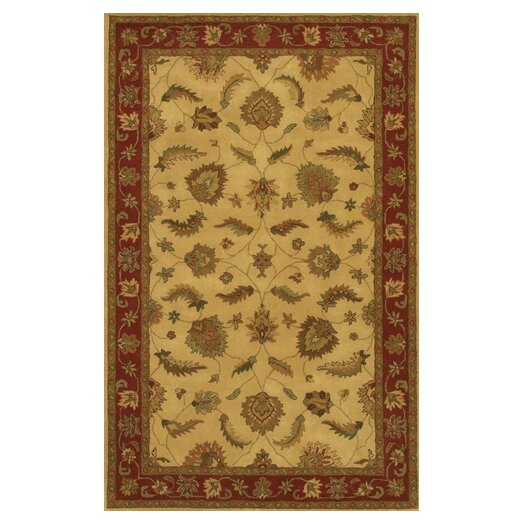 Chandra Rugs Avani Gold/Red Area Rug