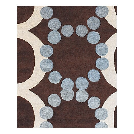 Chandra Rugs Avalisa Brown/White Area Rug