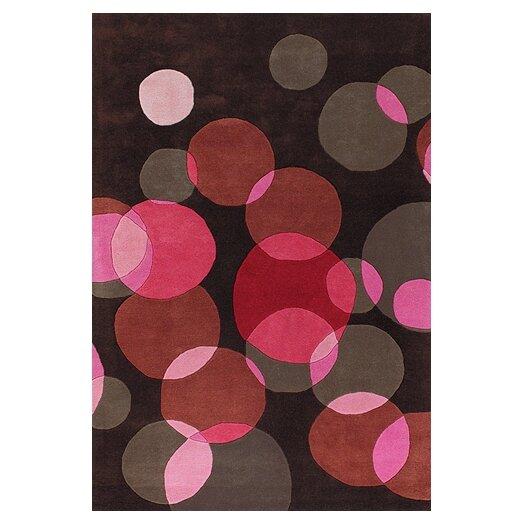 Chandra Rugs Avalisa Black/Pink Area Rug