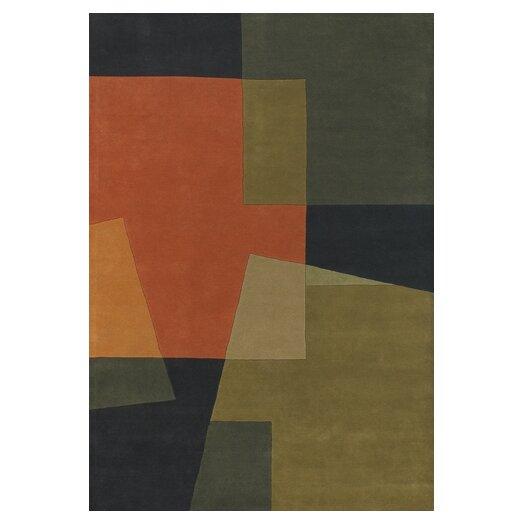 Chandra Rugs Bense Garza Orange/Brown Area Rug