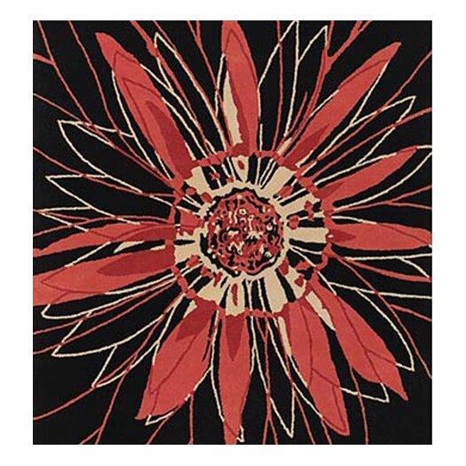 Chandra Rugs Dharma Black/Red Area Rug